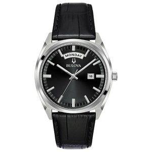 Bulova Black Leather 37mm Watch! Brand new!!